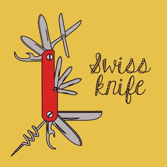 Diseño de cuchillo de ejército suizo