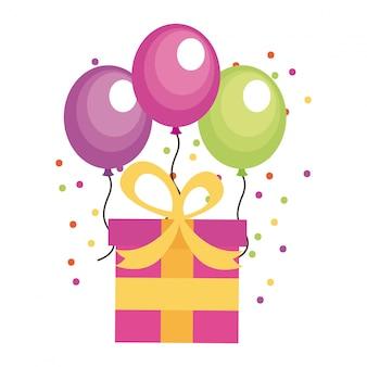 Diseño de cumpleaños sobre fondo blanco ilustración vectorial