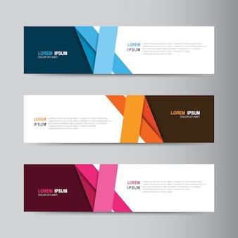 Diseño de banner abstracto