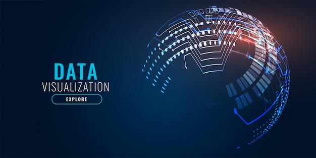 Diseño de banner de fondo de tecnología digital