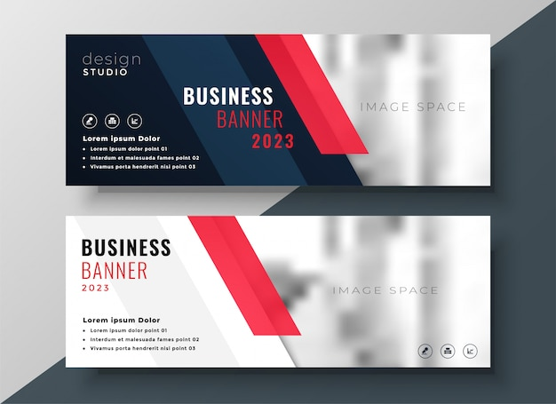 Diseño de banner de negocios corporativos profesionales
