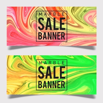 Diseño de banner de venta de mármol