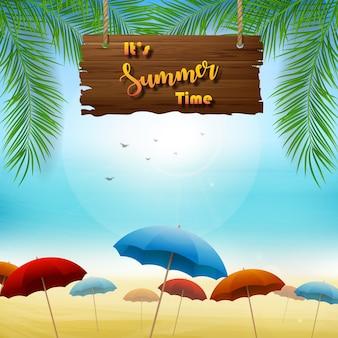Diseño de banner de verano