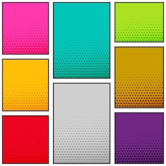 Diseño de banner vertical de estilo cómic multicolor