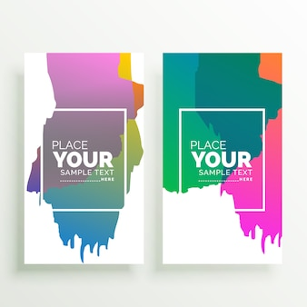 Diseño de banners verticales coloridos abstractos