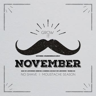 Diseño de bigote de movember