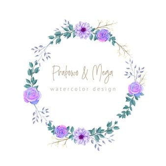Diseño de boda guirnalda floral