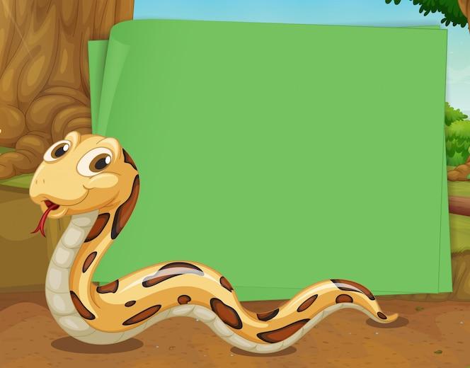 Diseño de borde con serpiente arrastrándose
