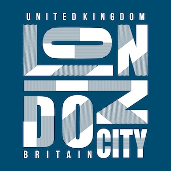 Diseño de camiseta de tipografía del reino unido