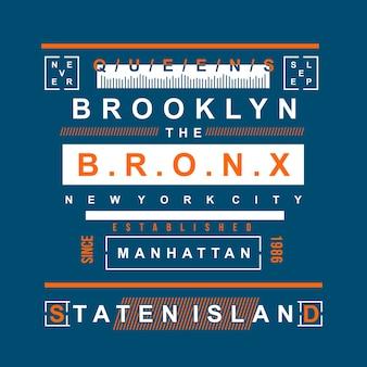 Diseño de camiseta moderna de nueva york