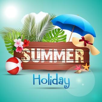 Diseño de carteles de vacaciones de verano