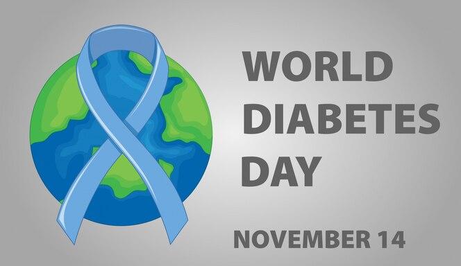 Diseño de carteles para el día mundial de la diabetes