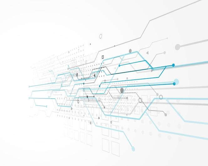 Diseño de concepto abstracto de la tecnología con malla de alambre