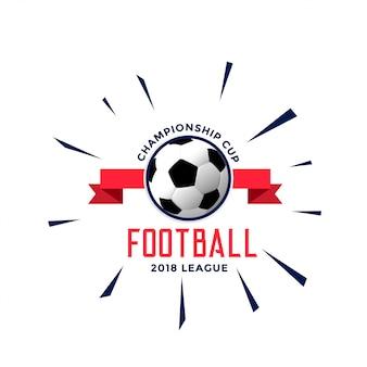 Diseño de concepto de estilo de logotipo de campeonato de fútbol
