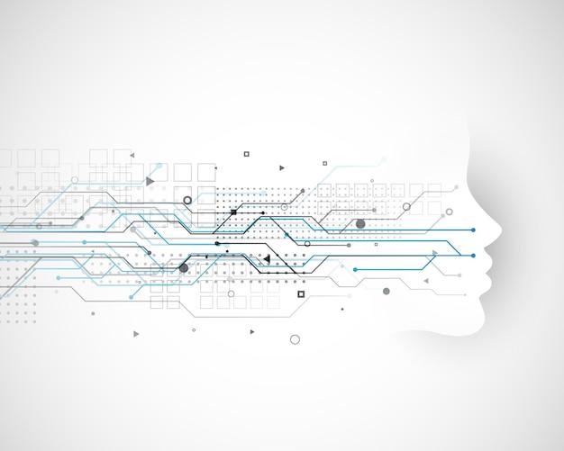 Diseño de concepto de tecnología cibernética