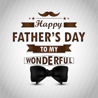 Diseño de día de padre feliz con caligrafía y corbata.