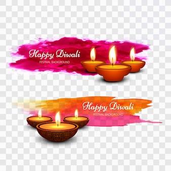 Diseño de diwali con pintura colorida