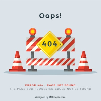 Diseño de error 404 con obras