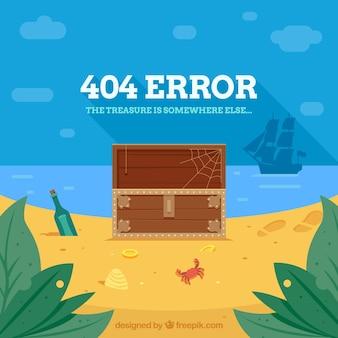 Diseño de error 404 con tesoro