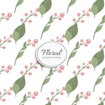 Diseño de estampado floral con bayas