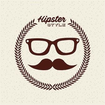 Diseño de estilo hipster