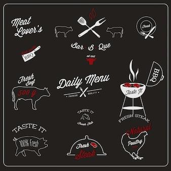Diseño de etiquetas de restaurante