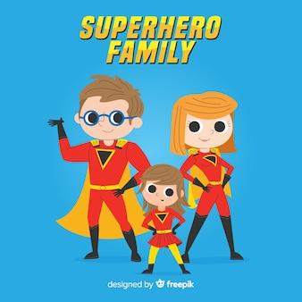 Diseño de familia de superheroes