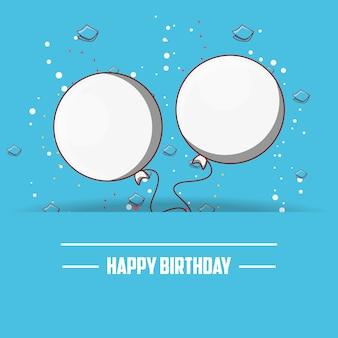 Diseño de feliz cumpleaños con globos