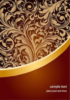 Diseño de folleto dorado