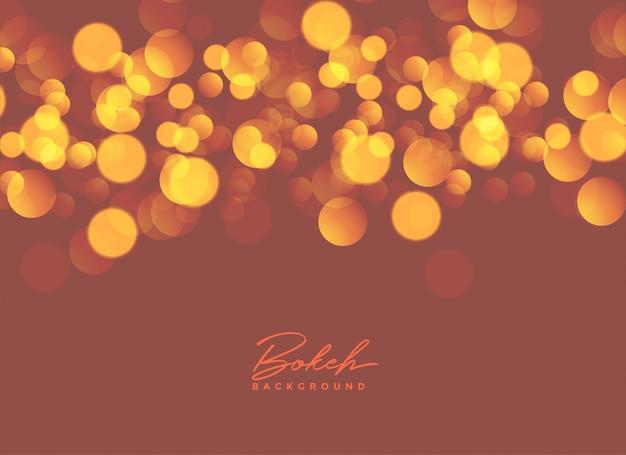 Diseño de fondo abstracto bokeh luces