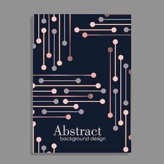Diseño de fondo abstracto con elementos geométricos