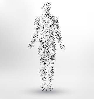 Diseño de fondo con forma de cuerpo humano