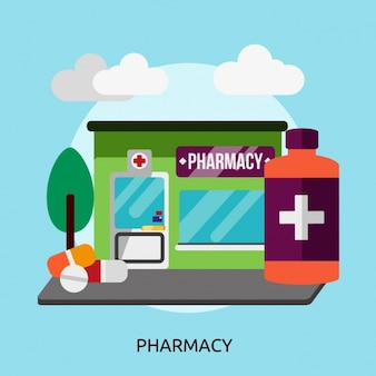 Diseño de fondo de farmacia