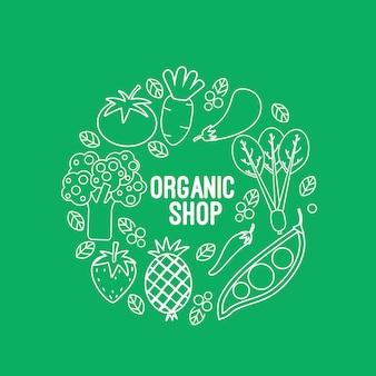 Diseño de fondo de tienda orgánica