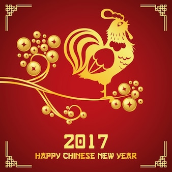 Diseño de fondo del año nuevo chino