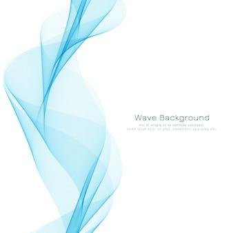 Diseño de fondo elegante azul ondulado abstracto