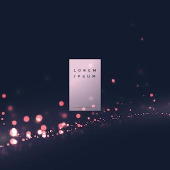 Diseño de fondo moderno bokeh efecto de luz