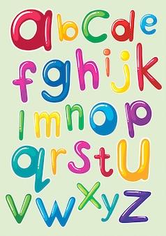 Diseño de fuente con alfabetos ingleses