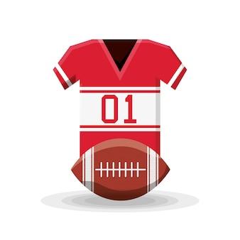Diseño de fútbol americano con camisa