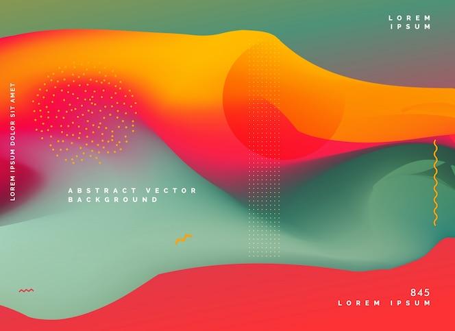 Diseño de gradiente de fondo colorido abstracto