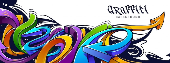 Diseño de graffiti sobre pared