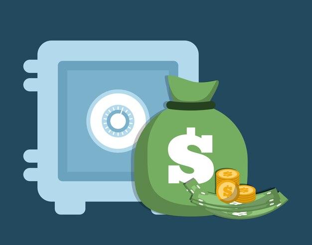 Bolsa De Dinero Con El Signo De Dólar
