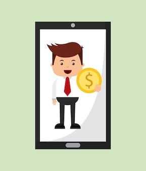 Diseño de icono de finanzas de personas de negocios