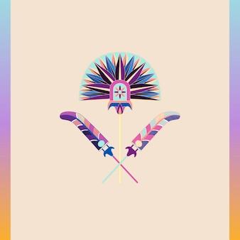 Diseño de ilustración de flores vintage