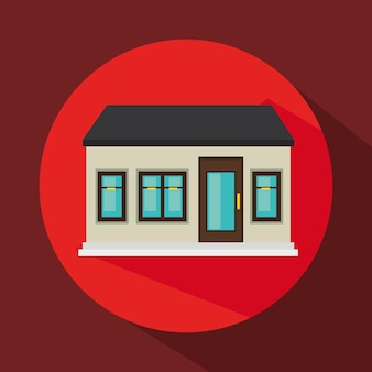 Diseño de ilustración de vector de icono de casa aislada exterior