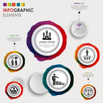 Diseño de infografía de acuarela salpicadura creativa