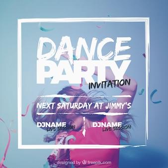 Diseño de invitación de fiesta