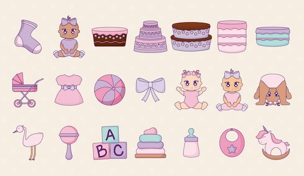 Diseño de la ducha del bebé