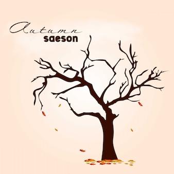 Diseño de la temporada de otoño con vector de fondo claro