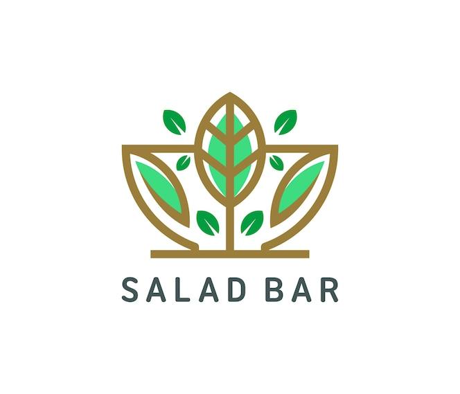 Diseño de logo de ensalada orgánica